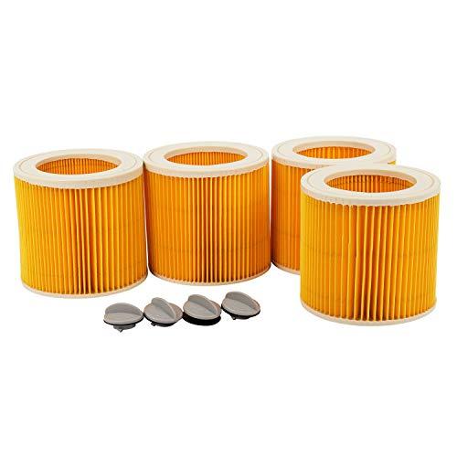 Beada 4 unids aire polvo filtro Hepa para Karcher Filler 1000 A2200 A3500 A223 WD2.200 WD3.500 Karcher Partes de aspirador MV2 MV3 WD3