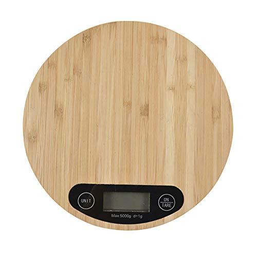 Verdelife Digitale Keukenweegschaal, Houten Graan Elektronische Schaal, 500g Max Auto Led Display Keukenweegschaal voor Weging Voedsel, Koken, Bakken B