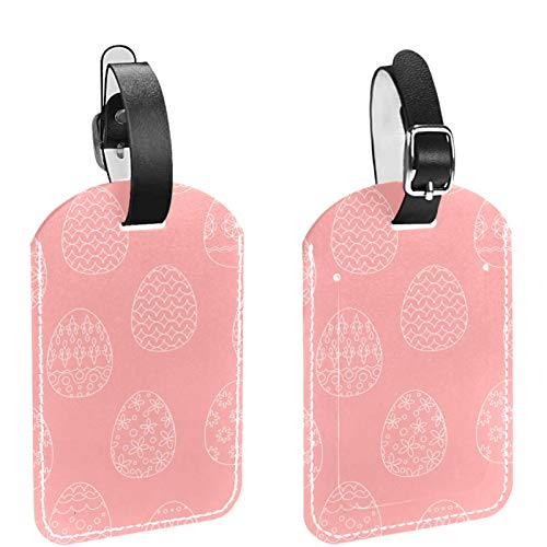 Luggage Tag Set of 2, His Hers Ours Travel Bag Tag, Suitcase Tag, School Bag Tag Happy Easter Day