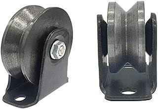 XINKONG 2 V-groef ijzeren zwenkwiel,Heavy Duty Track Wheel,Directional Sheave,Schuifpoort Roller,Dubbele lager,voor indust...