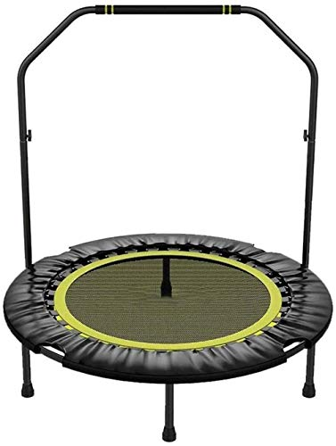 SYLOZ Los Trampolines de 40 Pulgadas de los niños Trampolines Fitness Mini Plegable con pasamanos Estable y silencioso Hinchable for los Adultos de los niños Trainer for Interior/Gard Entrenamientos