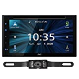 JVC KW-V660BT Apple CarPlay Android Auto DVD/CD Player with 6.8' Capacitive Touchscreen Bundled with + (1) License Plate Style Rear View Camera