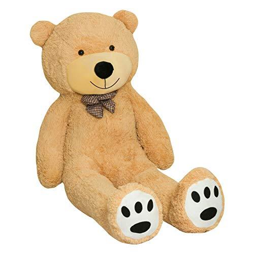 TEDBI Oso de Peluche Gigante 200cm | Beige | Gran Oso Gigante de Peluche de Juguete de Regalo de cumpleaños XXL Teddi Bear