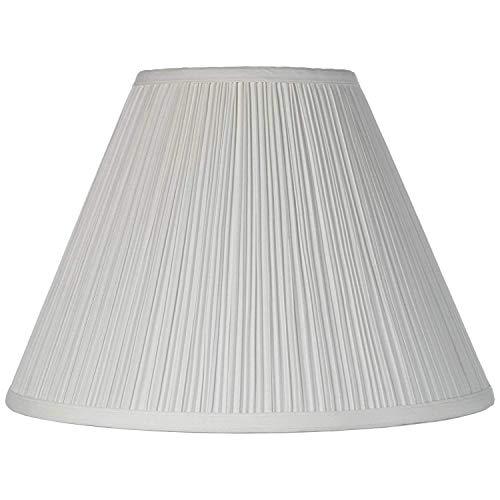 MISS&YG Medium Lampenschirm, Barrel Stoff Lampenschirm Für Tischleuchte Und Stehleuchte, 6,5 X 15 X 10 Zoll, Natürliche Seide Hand Crafted, Spinne (Weiß)