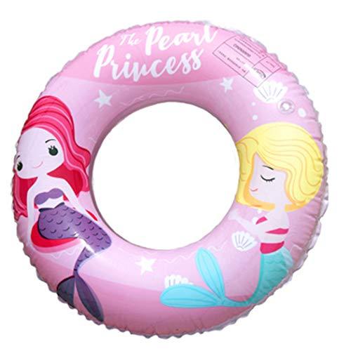 MMIAOO Anillo de natación colorido, anillo de natación de arco iris engrosado, anillo inflable de goma para piscina, juegos de agua suministros deportivos para natación de verano (rosa)