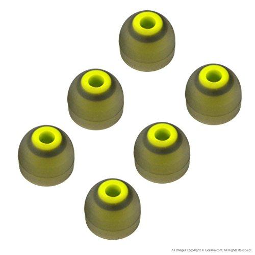 geekria® 3Paar Ersatz Silikon Ohrstöpsel für Jaybird Bluebuds X, X2Bluetooth Sport Kopfhörer (Größe M)