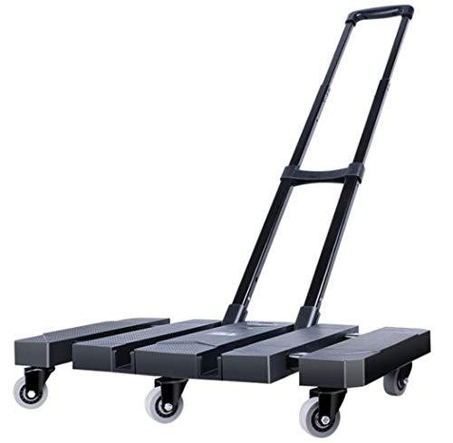 XGHW Klappbare Trolley, Sackkarre, Sackkarre, Max Kapazität 200 KG Rod Aufrecht Entwurf for Gepäck/Shopping/Umzug Waren/Reise-Plattformwagen