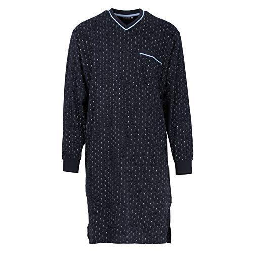 Götzburg Herren Nachthemd, Langarm, Baumwolle, Single Jersey, Navy, minimal 52