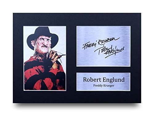 HWC Trading Freddy Krueger A4 Ungerahmt Signiert Gedruckt Autogramme Bild Druck-Fotoanzeige Geschenk Für Robert Englund Filmfans