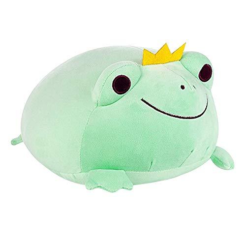Teeyyui Frosch Plüschtier, Stofftier Kuschelig Stretchy Weich Plüsch Spielzeug Frosch Kissen Geschenk Für Kinder Mädchen Jungen (35cm,grün)