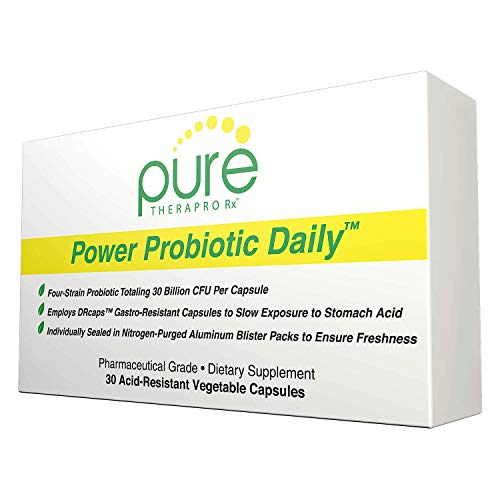 Power Probiotic Daily - 30'Acid-Resistant' Vcaps | 4 Proven Strains - 30 Billion CFU Per Capsule | Sealed in Nitrogen-Purged Aluminum Blister Packs to Insure Freshness | NO Refrigeration Required