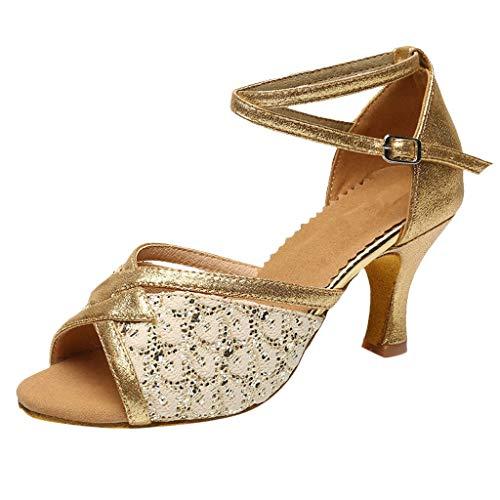 Lenfesh Damen Schuhe Tanzschuhe Latin Tanzen Im Standard-Ballsaal Für Innen Samba/Modern/Jazz Rumba Waltz Prom Ballroom Latin Dance Shoes