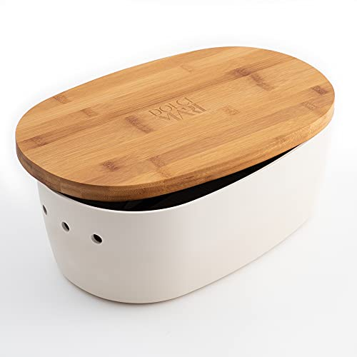 DOLCE MARE Bambus Brotbox - Hübscher Brotkasten -...