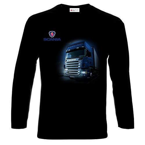 Scania LogoTruck Drivers LKW Männer Printed Langarm T-Shirt (L)
