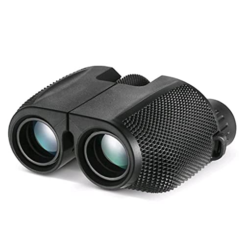 ABCD Binoculares HD, binoculares compactos de 10x25, Mini binoculares para Adultos y niños, adecuados para observación de Aves, Teatro y conciertos, y Juegos Deportivos