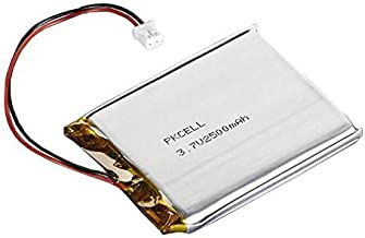 "Adafruit 328 Battery, Lithium Ion Polymer, 3.7V, 2500mAh, 2"" x 2.55"" x 0.30"" Size"