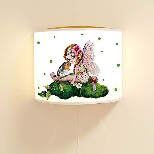 ilka parey wandtattoo-welt ls102 Lampe Murale pour Enfant Motif fée et Oiseau
