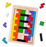rolimate Puzzle di Legno Tetris Puzzle di Legno Rompicapo Puzzle, Giocattolo di intelligen...