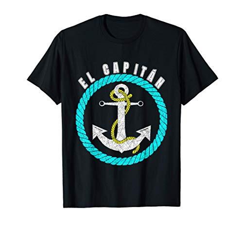 El Capitan regalo para los amantes del mar y los barcos Camiseta