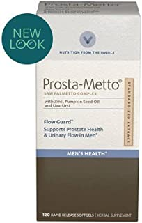Vitamin World Prosta-Metto Saw Palmetto Complex With Zinc, Pumpkin Seed Oil and Uva-Ursi 120 softgels