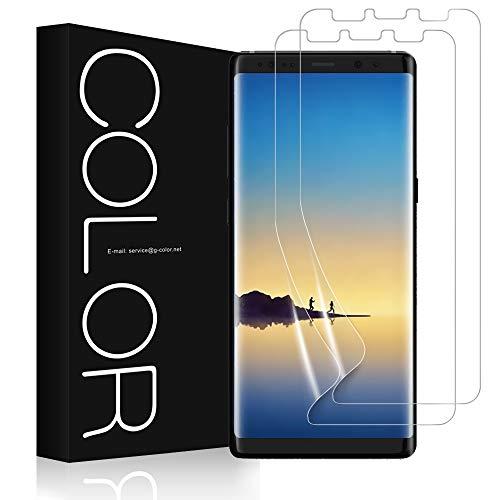 G-Color Galaxy Note 8 Protector de Pantalla, [2 Piezas], [Alta Definición y Sensibilidad] [Cobertura [Burbujas] [Anti-arañazos] TPU, Protector de Pantalla para Samsung Galaxy Note8