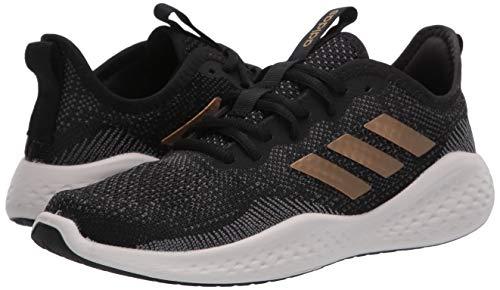 adidas Women's Fluidflow Running Shoe, core Black/Tactile Gold Met./Grey Six, 7.5 M US 6