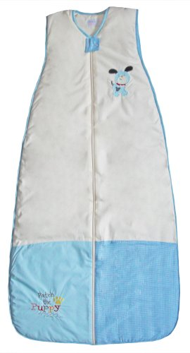 The Dream Bag PP181 Unisex Patch Puppy Baumwolle Baby Schlafsack, 18-36 Monate, 1.0 Tog, 110 cm, creme/blau