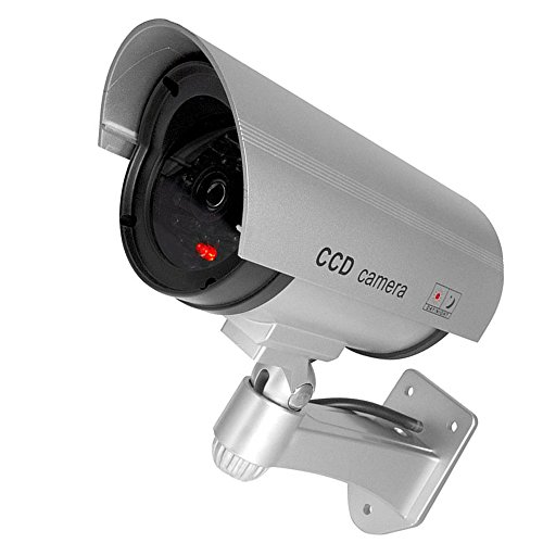 Supmico Silber Dummy Fake LED blinkt ¨¹berwachungskamera CCTV ¨¹berwachung Nachahmung Security Camera Warnung Blinkt