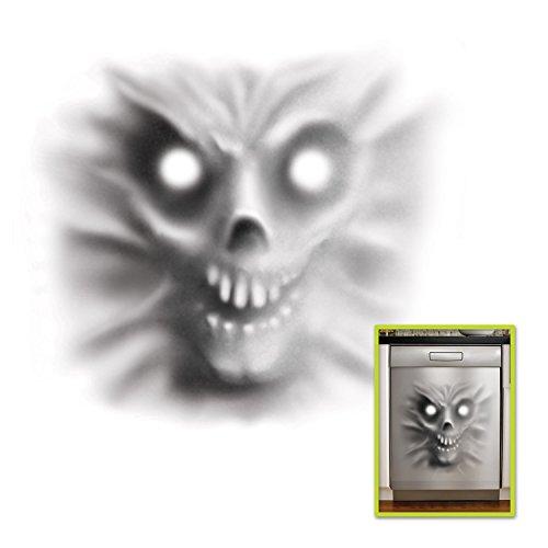 "Beistle Demon Dishwasher Door Cover Scary Halloween Decorations, 30"" x 30"", White/Black"