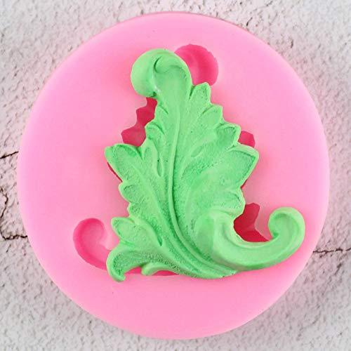 JLZK 3D Blätter Silikonform Relief Fondant Kuchen Dekorationswerkzeuge Chocolate Candy Clay Mould