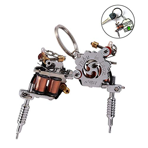 Portable Mini Tattoo Machine, Tattoo Supply Guns Key Chain as Pendant Ornament or Decoration