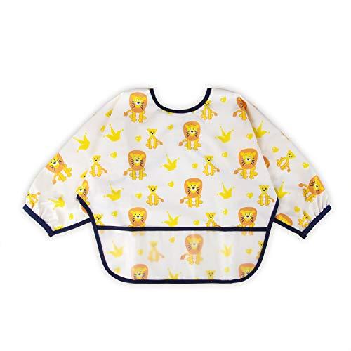 Baby Noah Long Sleeved Bib | Baby Waterproof Bibs with Pocket