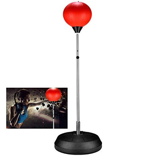 Vrijstaand Punch Bag - Speed bokszak bokszak - Boxing Ball Speed bokszak met bokshandschoenen en hoogte verstelbaar Stand - voor Stress Relief Fitness,A