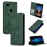 Googleケース Google Pixel 3A XL用レトロスキンフィールビジネス磁気水平フリップレザーケース (色 : Army Green)