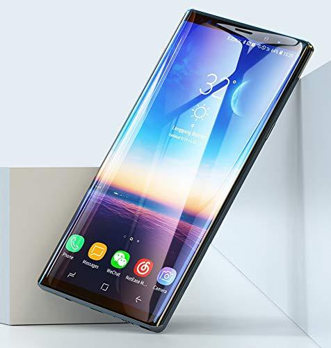 Onyx TRANSPARENT Premium 3D Panzerfolie Schutzfolie für Samsung Galaxy Note 9 SM-N960 Ultra HD+ 3D Gorilla 0.2mm - Tempered Glass Protector – 3D Full Coverage – HD+ Kristal KLAR TRANPARENT