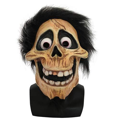 JNKDSGF Máscara de terrorScary Halloween Skull Latex Mask Full Head Movie Grandpa Cosplay Party Mask Props Disfraz Helmet-Coco Hector