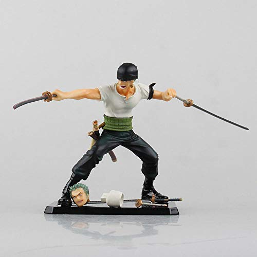 Action Figure One Piece Dos Años Después Roronoa Zoro Nuevo Mundo Cara Cambiante Personaje Animado Modelo Estatua Decoración 12cm