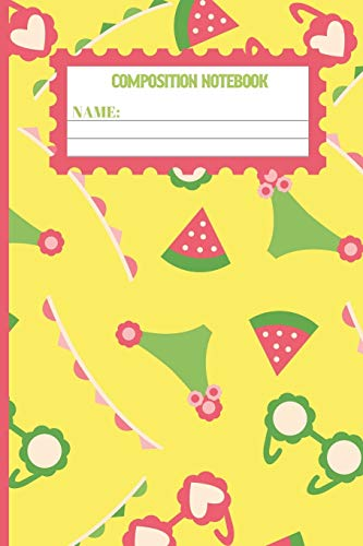 Composition Notebook: Watermelon gifts: cute Corn color pattern college ruled lined paper to write in.