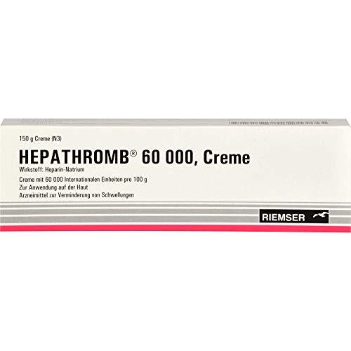 RIEMSER Hepathromb 60 000 Creme zur Verminderung von Schwellungen, 150 g Creme