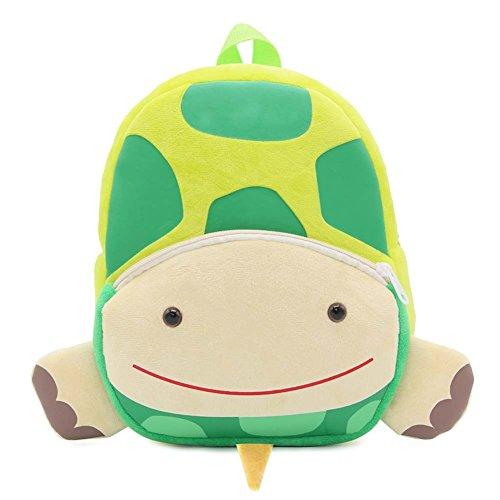 MISM Zaino per scuola materna Zaino scuola per bambini Zaino per bambini Mini peluche Simpatico animaletto (Tartaruga)
