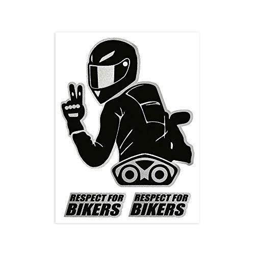 4R Quattroerre.it 6341 Adesivo Respect for Biker