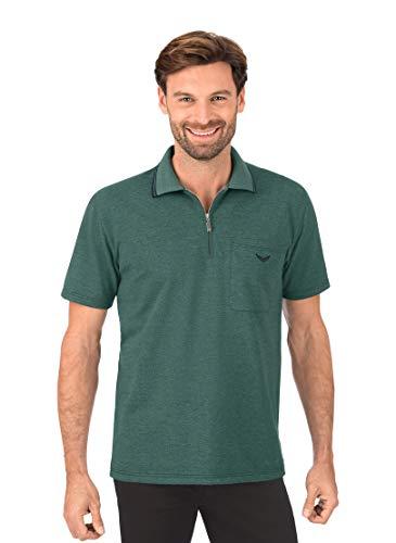Trigema Herren 627633 Polohemd, Green-Melange, XXXL