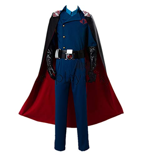 Cobra Commander Cosplay Costume Suit Cape for Adult Men Halloween Carnival Costumes (Male M)