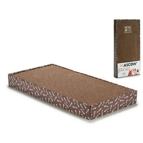 Mascow Tiragraffi per Gatti, 100% Riciclabile Cartone Ondulato Grattino Cat Ideale Come Lounge, Letto, Palestra e Graffiatoio, per Protegge Tappeti e Divani (48 x 25 x 5cm)