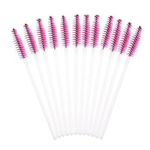 ❤️ LMMVP❤️ 50pcs Brosse à Cils Jetables Mascara Baguettes Maquillage Outil Cosmétique (50pcs, A)