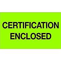Tape Logic Labels Certification Enclosed 3 x 5 [並行輸入品]