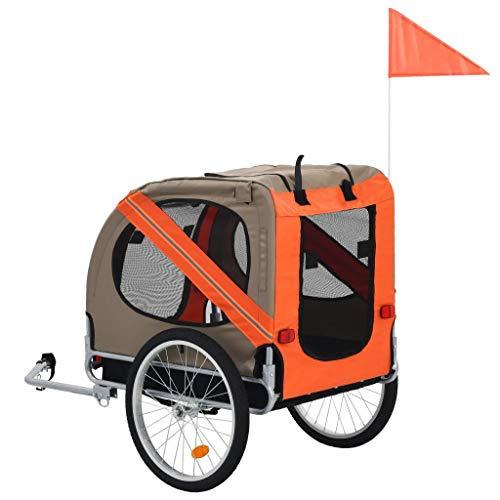 Hunde-Fahrradanhänger, Hundeanhänger für Fahrrad, Hundetransporter, mit Regenschutz, Faltbar, 137 x 73 x 90 cm (L x B x H)