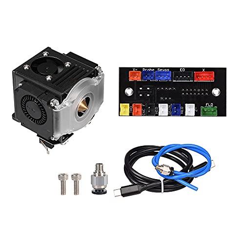 Junlucki Hotend Kit Extrusora Kit de actualización de Bowden Extrusora 0. 4mm Partes de la Impresora 3D for la Boquilla BIQU B1 Ender 3 V2 Pro CR10 Bricolaje (Color : Black Kit)