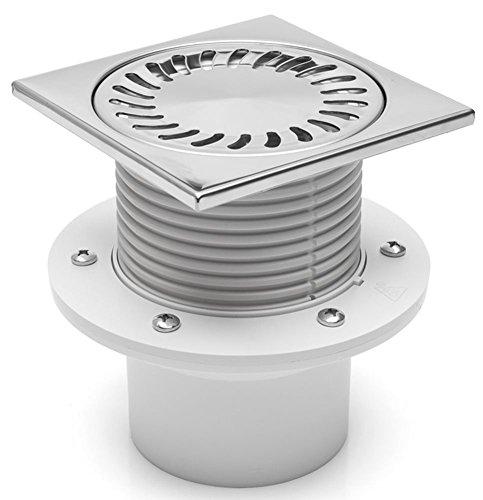 Duschablauf Badablauf Edelstahl 150x150 mm DN 110 441