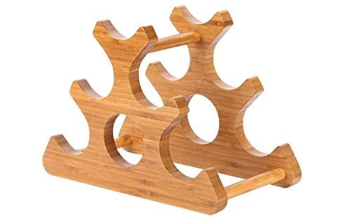 Souler Weinzubehör Weinregal aus Holz Weinregal aus Holz, Weinflaschenregal, weiten sie und verdickte Geometrische Zierde for Haus oder in der Küche 35 × 18 × 25,5 cm